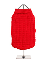 Red Waffle Textured Knitted Sweater - Our Red Waffle Textured Knitted Sweater has a tactile waffle-knit finish that is soft to the touch and easy on the eye. A high turtle neck and elasticated sleeves make this sweater extra cosy not to mention very stylish and chic.