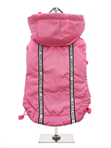 Pink Rainstorm Rain Coat - Our new Pink Rainstorm Rain Coat will protect your dog from the rain and with it's hi-visibility stripe will help them be seen. The adjustable draw string hood will keep the raincoat snug to your dogs face and a drawstring on the hem will allow you to get a nice tight fit to keep the body warm and d...