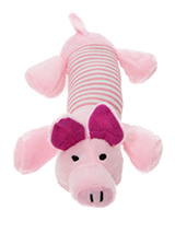 This Little Piggy Plush & Squeaky Dog Toy - This Little Piggy is a great interactive toy for playing 'tug o' War'. He is quite robust and will stand up to a lot of chewing and biting. The rest of him is cuddly and colourful with an added squeak to entertain your pet! This toy will provide hours of fun for your pup as he squeaks with every bit...