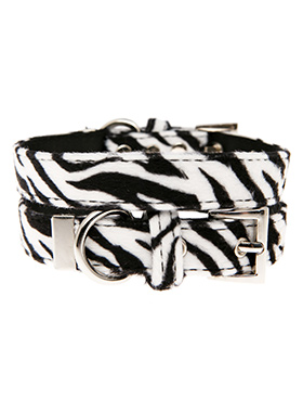 Zebra Print Fabric Collar