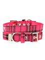 Fuschia Pink Tartan Fabric Collar