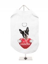 ''Be My Valentine'' Harness-Lined Dog T-Shirt
